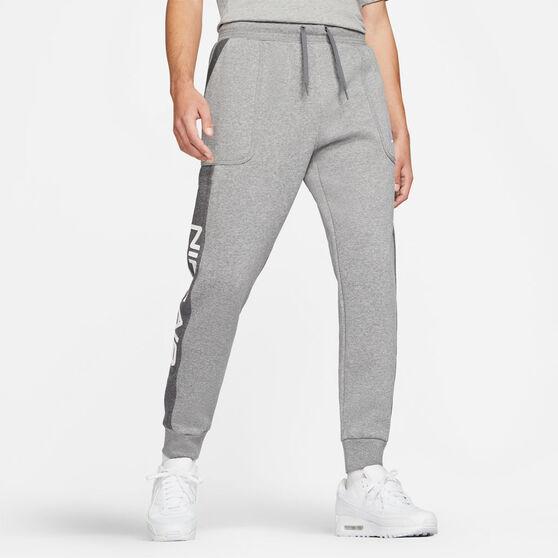 Nike Mens Sportswear Air Fleece Pants Grey, Grey, rebel_hi-res