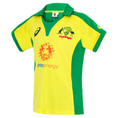Cricket Australia 2019/20 Kids Home ODI Replica Shirt, Yellow, rebel_hi-res