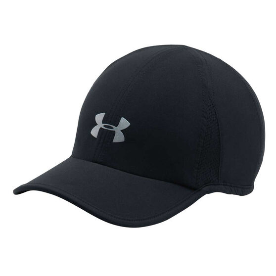 Under Armour Womens Shadow 2.0 Running Cap Black / Silver OSFA, , rebel_hi-res