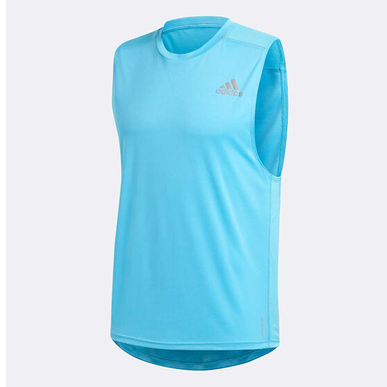 adidas Mens Own The Run Running Tank, Blue, rebel_hi-res