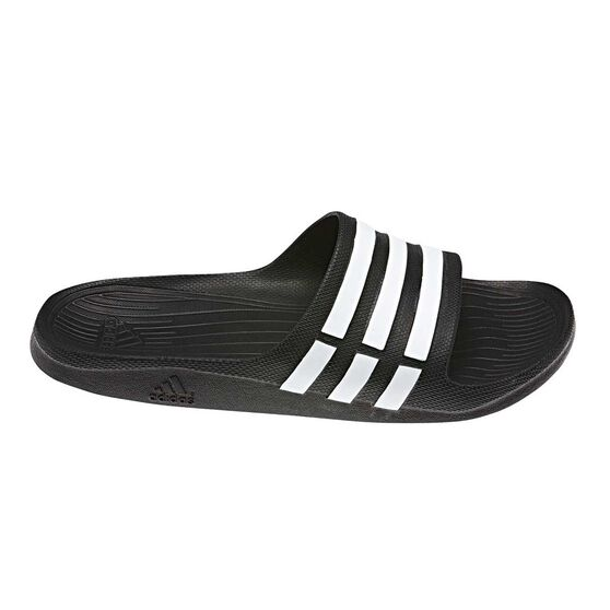 adidas Duramo Mens Slides, Black / White, rebel_hi-res