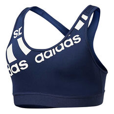 adidas Womens Disruptive Sports Bra, Navy, rebel_hi-res