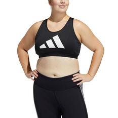 adidas Womens Don't Rest Sports Bra Plus Black 1XB, Black, rebel_hi-res