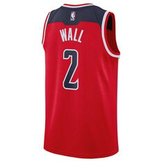 Nike Washington Wizards John Wall 2018 Mens Swingman Jersey University Red S, University Red, rebel_hi-res