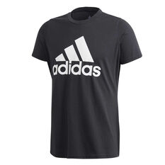 adidas Womens Badge of Sport Tee Plus Black XL, Black, rebel_hi-res