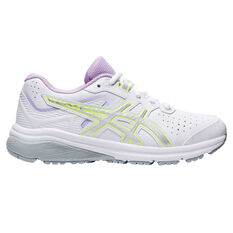 Asics GT 1000 SL Kids Training Shoes White US 1, White, rebel_hi-res