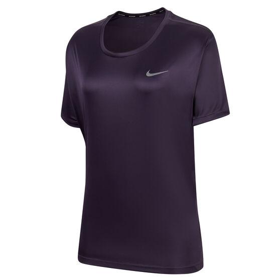 Nike Womens Miler Running Tee Plus, , rebel_hi-res