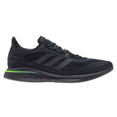 adidas Supernova Mens Running Shoes Black/Green US 7, Black/Green, rebel_hi-res