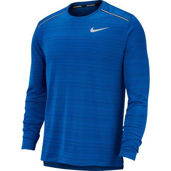 Nike Mens Dri-FIT Miler Long-Sleeve Running Top, Dark Indigo, rebel_hi-res