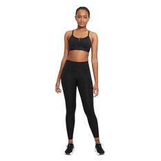 Nike Womens Dri-FIT Indy Zip Front Sports Bra, Black, rebel_hi-res