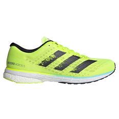 adidas Adizero Adios 5 Mens Running Shoes Yellow/Black US 7, Yellow/Black, rebel_hi-res