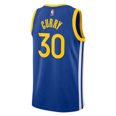 Nike Golden State Warriors Steph Curry 2019 Mens Icon Edition Swingman Jersey Blue S, Blue, rebel_hi-res