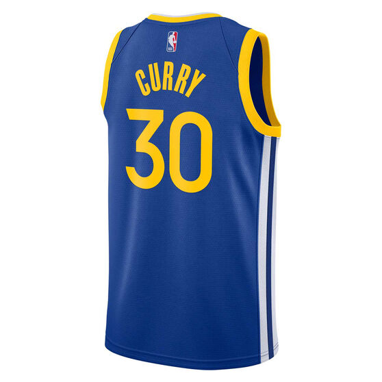Nike Golden State Warriors Steph Curry 2019 Mens Icon Edition Swingman Jersey, Blue, rebel_hi-res