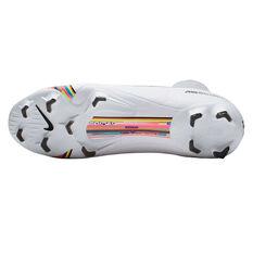 Nike Mercurial Superfly VI Pro Football Boots White / Black US Mens 7 / Womens 8.5, White / Black, rebel_hi-res
