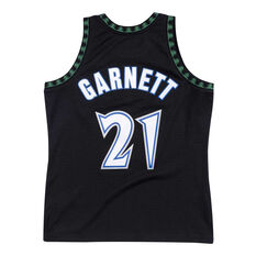 Minnesota Timberwolves Kevin Garnet 97/98 Mens Alternate Jersey Black S, Black, rebel_hi-res