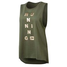 Running Bare Womens Guns Out Muscle Tank Khaki 8, Khaki, rebel_hi-res