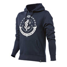 Carlton Blues 2018 Mens Hoodie Navy S, Navy, rebel_hi-res