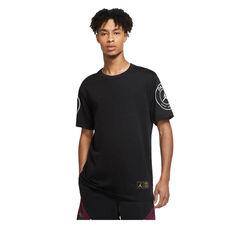 Paris Saint-Germain Jordan 2020/21 Mens Logo Tee Black S, Black, rebel_hi-res
