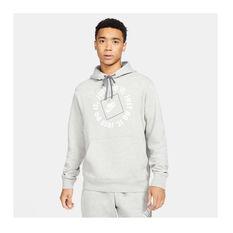 Nike Mens Sportswear Just Do It Fleece Hoodie, Grey, rebel_hi-res