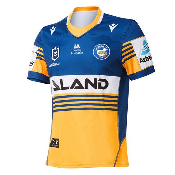 Parramatta Eels 2021 Mens Home Jersey, Blue/Yellow, rebel_hi-res