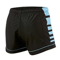 Cronulla-Sutherland Sharks Mens Home Supporter Shorts Black / Blue S, Black / Blue, rebel_hi-res