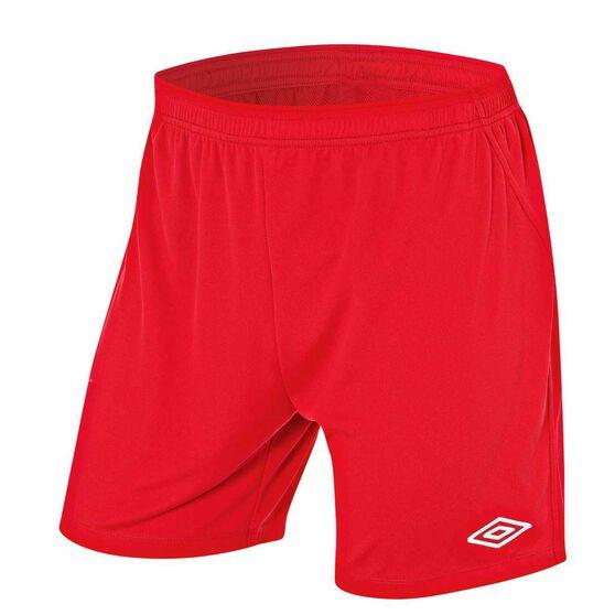 Umbro League Mens Football Shorts, Red, rebel_hi-res
