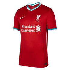 Liverpool FC 2020/21 Mens Stadium Home Jersey Red S, Red, rebel_hi-res