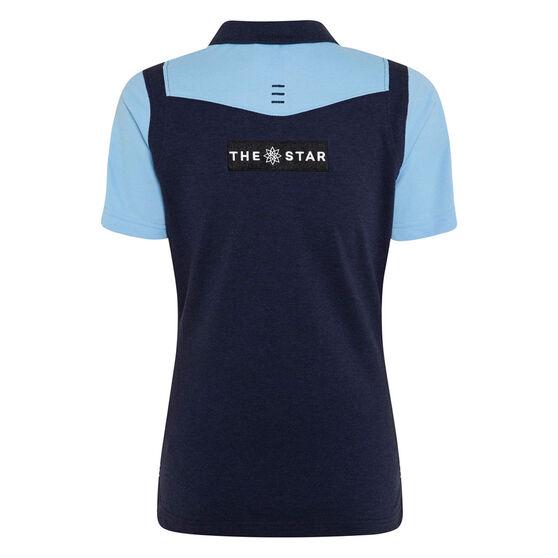 NSW Blues State of Origin 2020 Womens Media Polo, Navy / Blue, rebel_hi-res