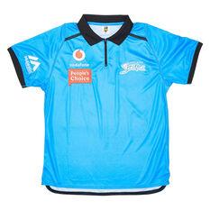 Adelaide Strikers 2020/21 Mens Media Polo Blue S, Blue, rebel_hi-res