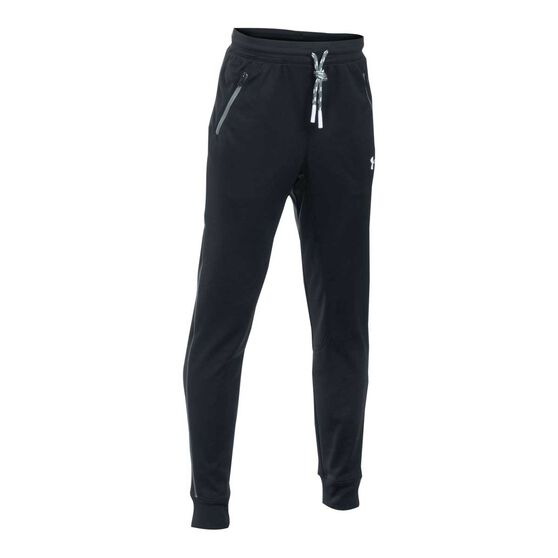 Under Armour Boys Pennant Tapered Pants, Black/White, rebel_hi-res