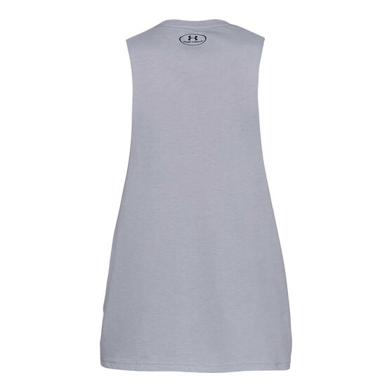 Under Armour Mens Sportstyle Cut-Off Tank, Grey, rebel_hi-res