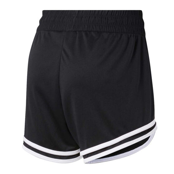 Reebok Womens Workout Ready Knit Shorts, Black, rebel_hi-res