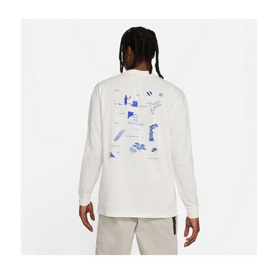 Nike Mens Sportswear Long Sleeve Tee, White, rebel_hi-res