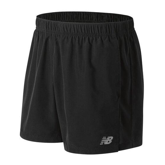 New Balance Mens Accelerate 5in Running Shorts, Black, rebel_hi-res