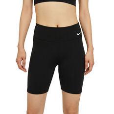 "Nike One Womens Mid-Rise 7"" Tights, Black, rebel_hi-res"