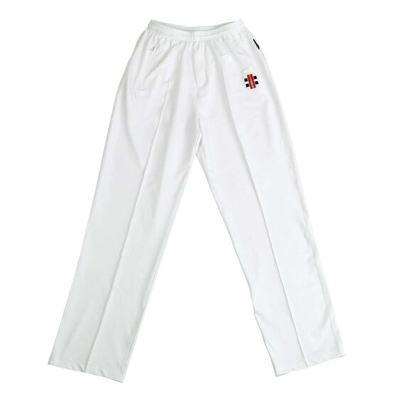 Gray Nicolls Players Cricket Trousers, White, rebel_hi-res