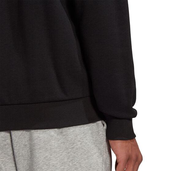 adidas Mens Volume Fleece Big Logo Sweatshirt, Black, rebel_hi-res