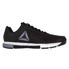 Reebok Speed Trainer Flexweave Womens Training Shoes Black / Grey US 5, Black / Grey, rebel_hi-res