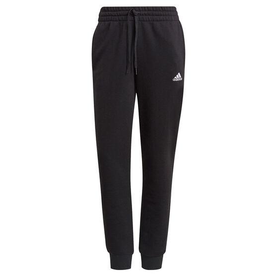 adidas Womens Essentials Slim Tapered Cuffed Pants, Black, rebel_hi-res