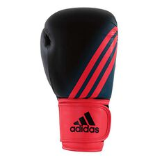 adidas Womens Speed 100 Boxing Glove Black / Red 12oz, , rebel_hi-res