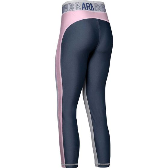 Under Armour Girls Infinity Ankle Crop Tights, Grey, rebel_hi-res