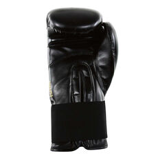 adidas Hybrid 100 Boxing Gloves Black 12oz, Black, rebel_hi-res