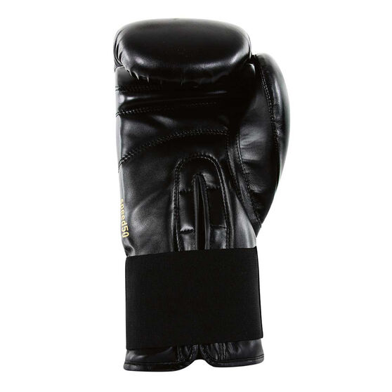 adidas Hybrid 100 Boxing Gloves, Black, rebel_hi-res