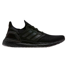 adidas Ultraboost 20 Mens Running Shoes Black/Red US 7, Black/Red, rebel_hi-res
