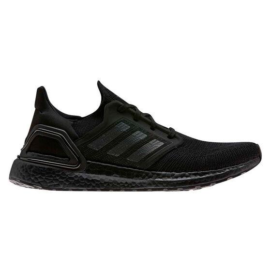 adidas Ultraboost 20 Mens Running Shoes, Black/Red, rebel_hi-res