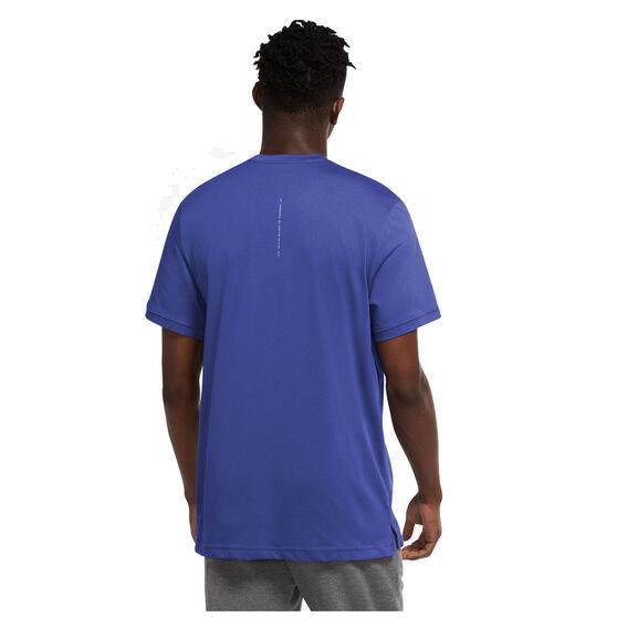 Nike Mens Dri-FIT Graphic Training Tee, Blue, rebel_hi-res