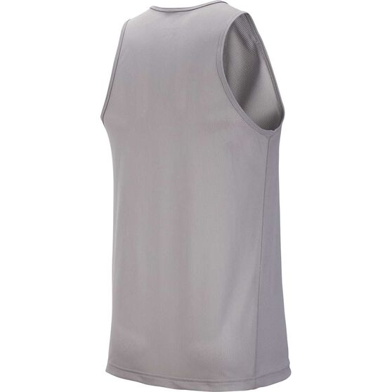 Nike Mens Breathe Running Tank, Grey, rebel_hi-res