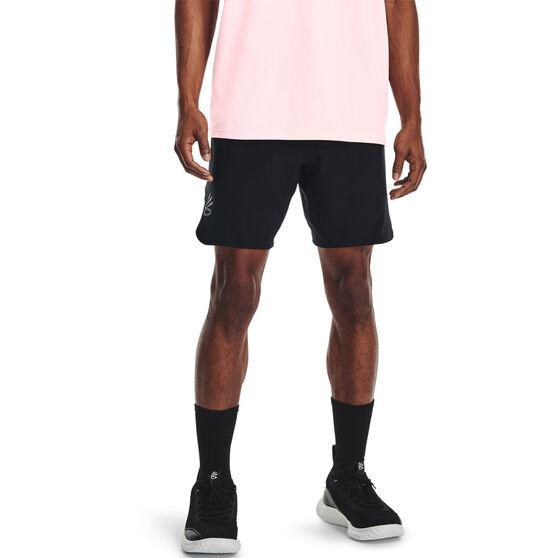 Under Armour Mens Curry UNDRTD Utility Shorts, Black, rebel_hi-res