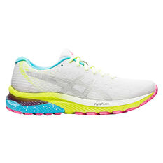 Asics GEL Cumulus 22 Lite Show Womens Running Shoes White/Silver US 7, White/Silver, rebel_hi-res