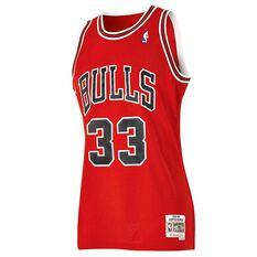 Chicago Bulls Scottie Pippen Mens Road Swingman Jersey, , rebel_hi-res